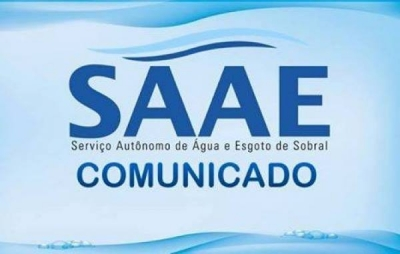 COMUNICADO DO SAAE DE SOBRAL PARA MORADORES DO DISTRITO DE TAPERUABA